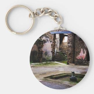 Pompeii - Inner court of ancient Pompeiian house Basic Round Button Key Ring