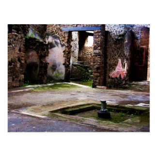 Pompeii - Inner court of ancient Pompeiian house Postcard
