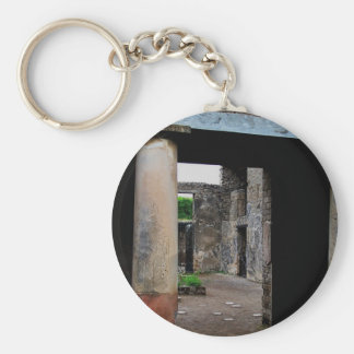 Pompeii - Interior court or peristyle of house Basic Round Button Key Ring