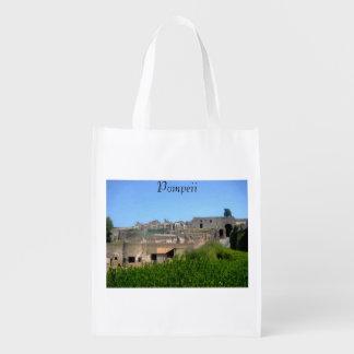Pompeii Italy Grocery Bag
