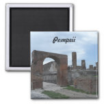 Pompeii, Italy Square Magnet