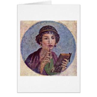 Pompeii Region Vi By Master Herkulaneischer Greeting Card