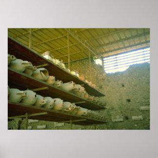 Pompeii, Roman amphorae in storage Poster