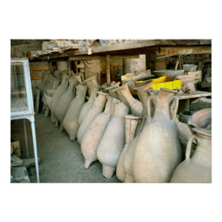 Pompeii, Roman amphorae Poster