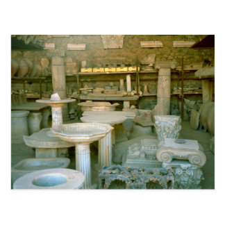 Pompeii, storage facility for excavated artefacts postcard