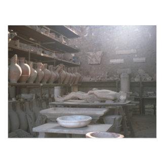 Pompeii, Storage for discoveries Postcard