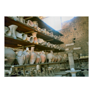 Pompeii, Storeroom for excavated pottery Poster