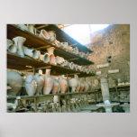 Pompeii, Storeroom for excavated pottery Posters
