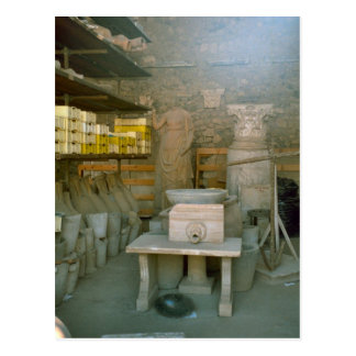 Pompeii, Storing the excavated artefacts Postcard
