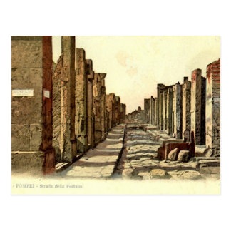 Pompeii, Street with stepping stones Postcard