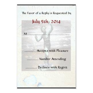 "Pompeii-Themed RSVP card 3.5"" X 5"" Invitation Card"