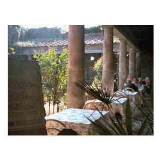 Pompeii, Villa courtyard Postcard