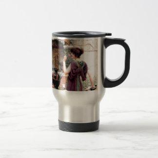 Pompeii Woman Godward garden Travel Mug