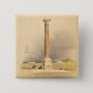 """Pompey's Pillar, Alexandria, from """"Egypt and Nubia 15 Cm Square Badge"""