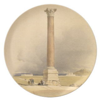"""Pompey's Pillar, Alexandria, from """"Egypt and Nubia Plate"""