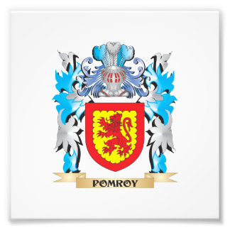 Pomroy Coat of Arms - Family Crest Photographic Print