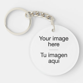 Pon your own design in key ring in target Double-Sided round acrylic key ring