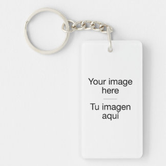 Pon your own photo in group in target Double-Sided rectangular acrylic key ring