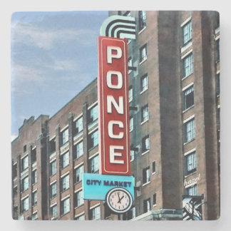 Ponce City Market, Atlanta, Landmark Coasters Stone Beverage Coaster