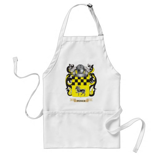 Ponce Coat of Arms (Family Crest) Aprons