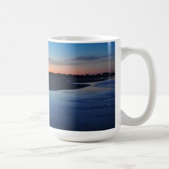 Ponce Inlet Beach Jetty 3 Birds Blue Mug