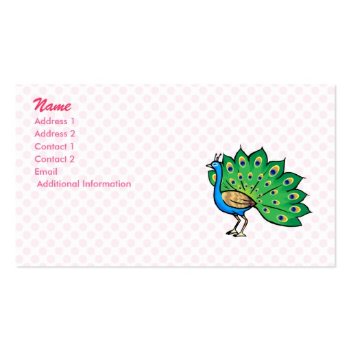 Ponce Peacock Business Cards