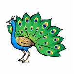 Ponce Peacock Photo Cutouts
