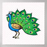Ponce Peacock Print