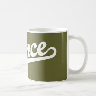 Ponce script logo in white basic white mug