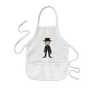 Poncho Cowboy Sheriff Apron