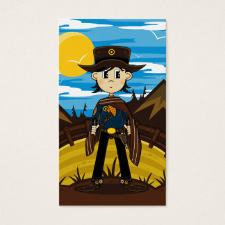 Poncho Cowboy Sheriff Bookmark Business Card