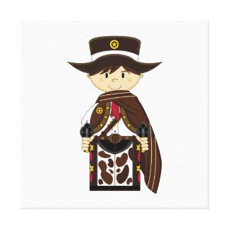 Poncho Cowboy Sheriff Canvas Print
