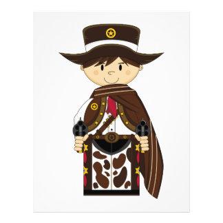 Poncho Cowboy Sheriff Flyer
