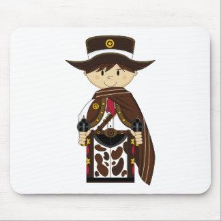 Poncho Cowboy Sheriff Mousepad