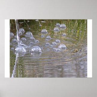 pond bubbles poster