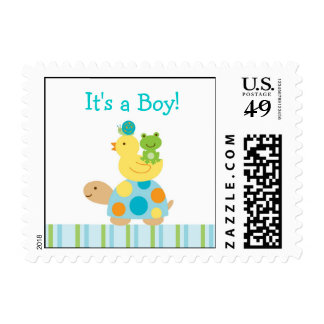 Pond For Turtle Personalized Postage Stamps