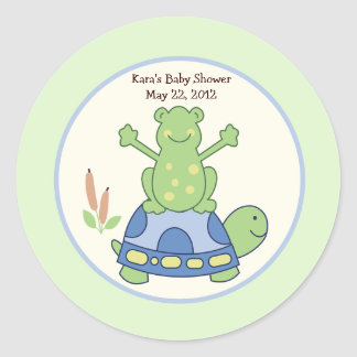 Pond Friends Birthday Baby Shower Favor Sticker