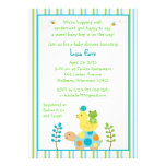 Pond Frog Turtle Baby Shower Invitations
