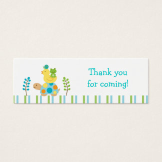 Pond Frog Turtle Goodie Bag Tags Gift Tags Mini Business Card