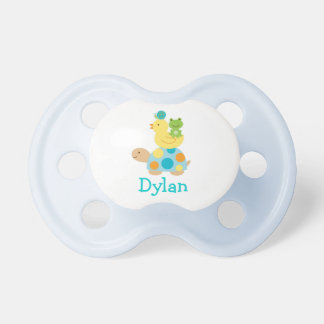 Pond Frog Turtle Personalized Pacifier