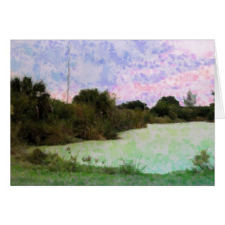 Pond Impressions Greeting Card