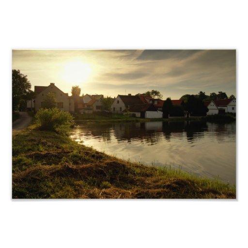 Pond in the Village Photo Art