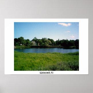Pond in Wickford, RI Poster