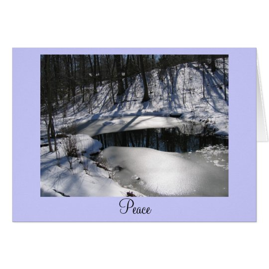 Pond in Winter Card