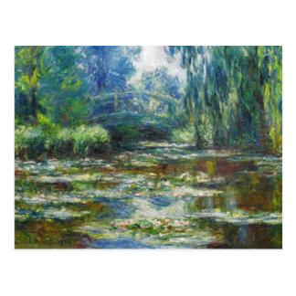 Pond & Japanese Bridge Monet Fine Art Postcard