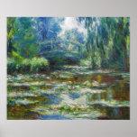 Pond & Japanese Bridge Monet Fine Art Poster