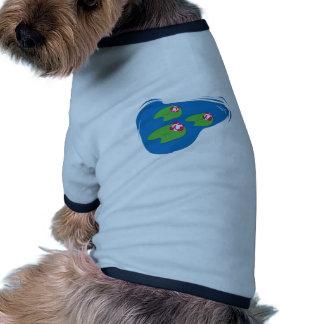 Pond Lilies Ringer Dog Shirt