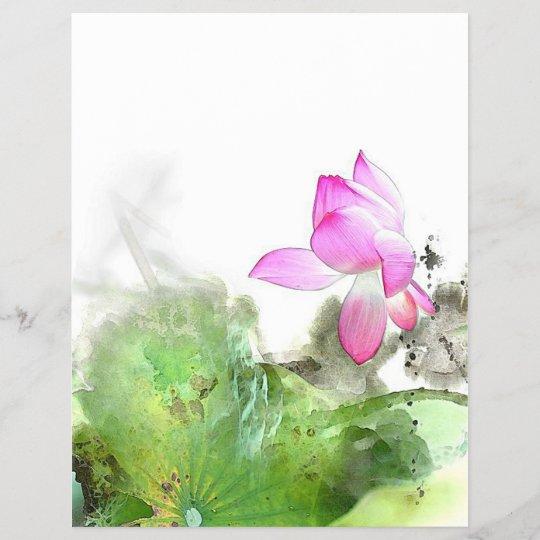 Pond Lotus L Chinese Brush Painting Art Zazzlecouk