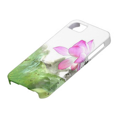 POND LOTUS l Chinese Brush Painting Art iPhone 5 Cover