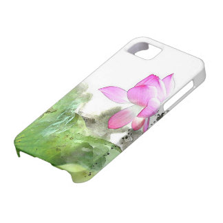 POND LOTUS l Chinese Brush Painting Art Case For The iPhone 5